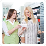 Pharmacist with customer